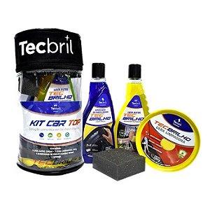Kit Limpeza Tecbril Car Top C/4 itens