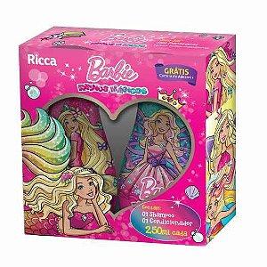 Kit shampoo e Condicionador Ricca Barbie Reinos Mágicos 250ml