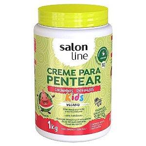 Creme Para Pentear Salon Line Kids Cachos Definidos 1kg