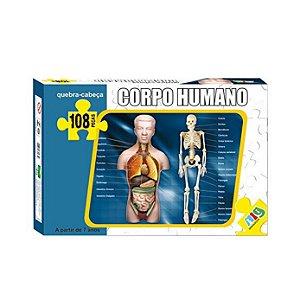 Quebra-cabeça Nig Corpo Humano 108 Peças