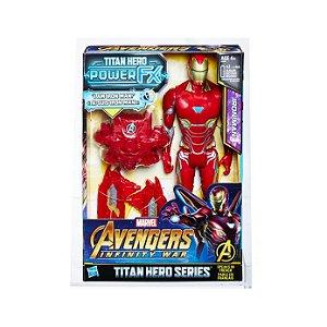 Boneco Iron Man Avengers Infinity War - Hasbro Série Titan Hero