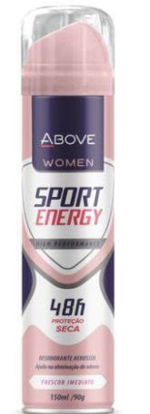 Desodorante Aerosol Above Sport Energy 150ml