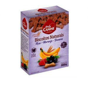 Biscoitos Naturais Pet Pró Canine Açaí, Morango e Banana 300g