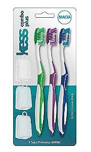 Escova Dental Kess Combo Plus Leve 3 pague 2 Macia 2083