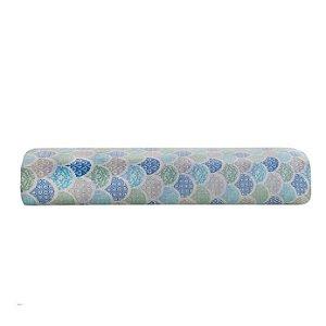 Lençol Avulso Solteiro Santista C/ Elástico Estampado Deco Azul