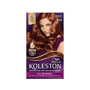 Tintura Koleston 674 Chocolate Acobreado
