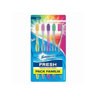 Escova Dental Sorriso Fresh Família C/5 Escovas