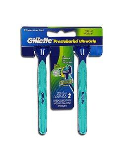 Aparelho de Barbear Gillette Prestorbaba Ultra Grip Móvel C/ 2 Unidades