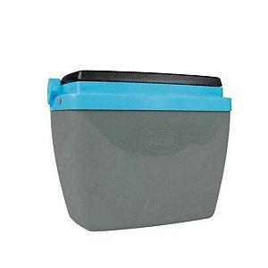 Caixa Térmica Mor 6L Cinza/Azul