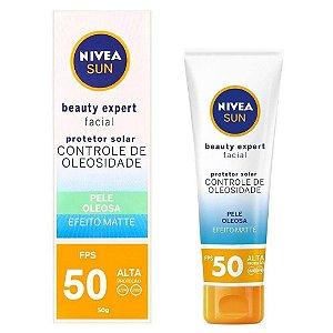 Protetor Nivea Sun Beauty Expert Facial FPS50 50g