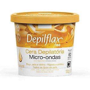 Cera Depilatória Depilflax Micro-ondas Natural 100g