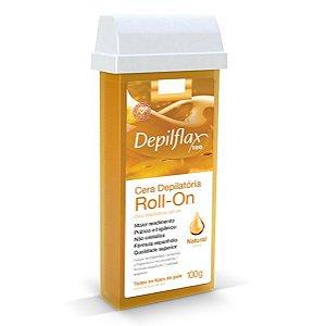 Cera Depilatória Roll-on Depilflax Natural 100g