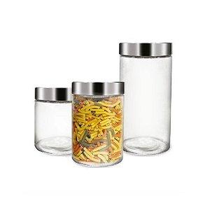 Conjunto de Porta Mantimentos de Vidro Rojemac C/3 Peças