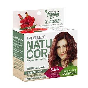 Coloração Natucor 5.64 Castanho Claro Vermelho Acobreado