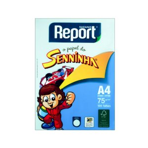 Papel Sulfite Report Senninha A4 C/100 Folhas Verde