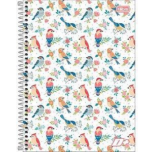 Caderno Capa Dura Universitário Tilibra D+ Feminino 10 Matérias C/200 Folhas