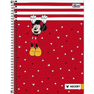 Caderno Capa Dura Universitário Tilibra Mickey Mouse 16 Matérias C/320 Folhas
