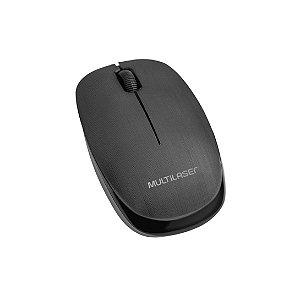Mouse Sem Fio Multilaser MO251 2.4Ghz 1200 DPI Preto