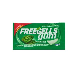 Chiclete Freegells Gum Menta 8g
