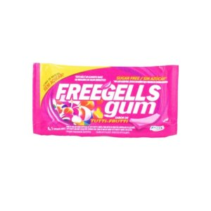 Chiclete Freegells Gum Tutti-frutti 8g