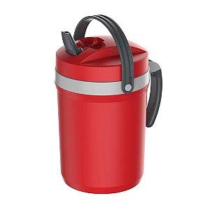 Jarra Térmica Termolar Fliptop Vermelho 2,5L