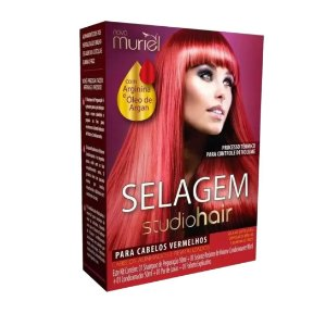 Kit Selagem Muriel Studio Hair Para Cabelos Vermelhos