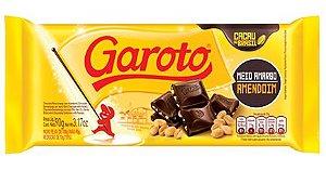 Barra de Chocolate Garoto Meio Amargo Amendoim 90g