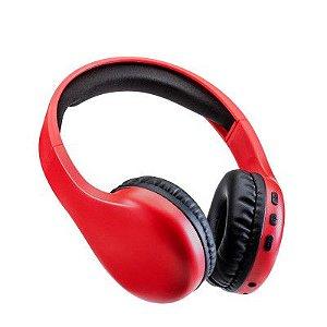 Headphone Bluetooth Multilaser Joy P2 Vermelho