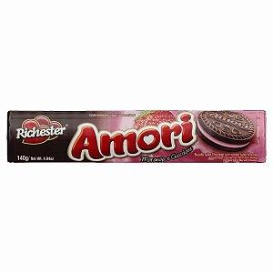 Biscoito Richester Amori Morango e Chocolate 140g