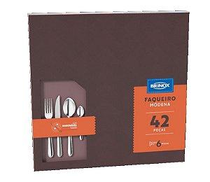 Faqueiro Aço Inoxidável Brinox Módena C/42 Peças 5119/118