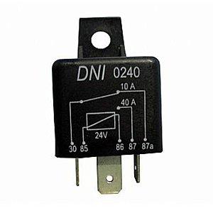 Rele auxiliar Automotivo 40amper 5 pinos dni 0240 dni0240 Código RDR3985