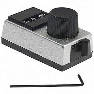 Do Dial Modelo 15 Spectrol Vischay 3 Digitos Corpo Metálico Dial 15 para Potenciometro 534 Código RDR-3322