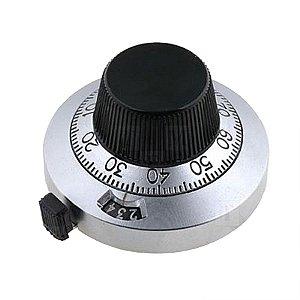 Dial Redutor para Potenciometro Diametro 46mm Corpo Metalico Modelo Dial 21.1.1  Spectrol