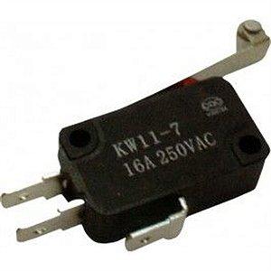 Micro Chave 16 Amper 250v KW11-7-2 Aste 27mm com Roldana