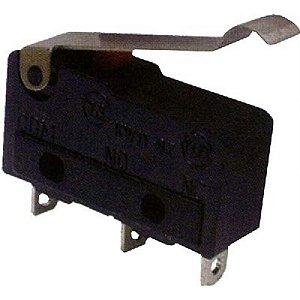 Micro Chave 5 Amper 250v KW11-3Z Aste Curva A 21,8mm