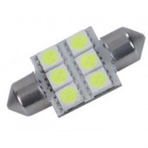 Lâmpada Led BA36-5050-6 - 6 Leds Automotiva