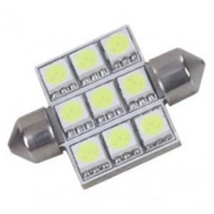 Lâmpada Led BA36-5050-9 - 9 Leds Automotiva