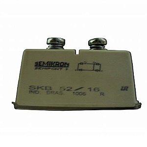 Ponte Retificadora Monofásica 1600V 50 Amper SKB52/16 Semikron Código Compra RDR-12832