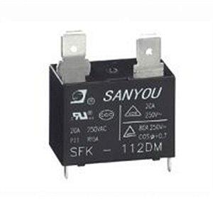 Rele SFK112DM SFK-112DM Rele de Potência para Ar Condicionado 20 Amper 12VDC 250VCA Código para Compra -RDR21695