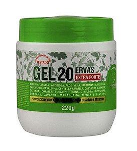 Gel 20 Ervas Extra Forte Alívio e Frescor