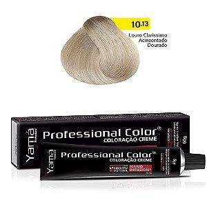 Coloração Yamá Creme Professional Color Nano Infusion. 10.13 Louro Claríssimo Acizentado Dourado 60g