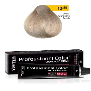Coloração Yamá Creme Professional Color Nano Infusion 10.89 Louro Clarissimo Pérola 60g