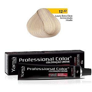 Coloração Yamá Creme Professional Color Nano Infusion 12.12 Louro Extra Claro Acinzentado Irizado 60g