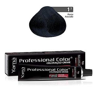 Coloração Yamá Creme Professional Color Nano Infusion 1.1 Preto Azulado