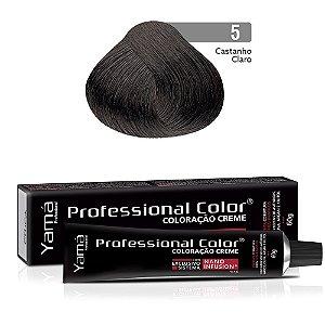 Coloração Yamá Creme Professional Color Nano Infusion 5.0 Castanho Claro
