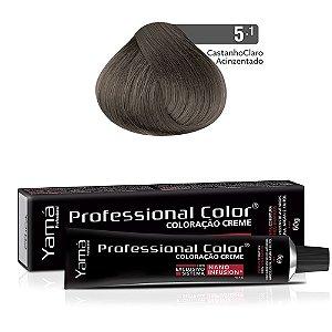 Coloração Yamá Creme Professional Color Nano Infusion 5.1 Castanho Claro Acinzentado