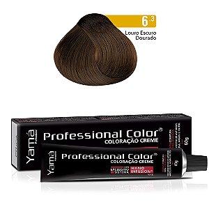 Coloração Yamá Creme Professional Color Nano Infusion 6.3 Louro Escuro Dourado