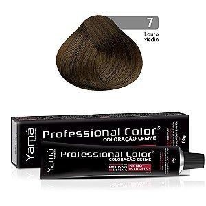 Coloração Yamá Creme Professional Color Nano Infusion 7.0 Louro Médio