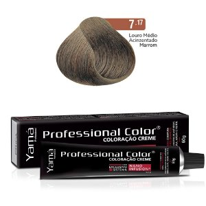 Coloração Yamá Creme Professional Color Nano Infusion 7.17 Louro Médio Acinzentado Marrom