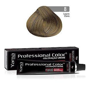 Coloração Yamá Creme Professional Color Nano Infusion 8.0 Louro Claro